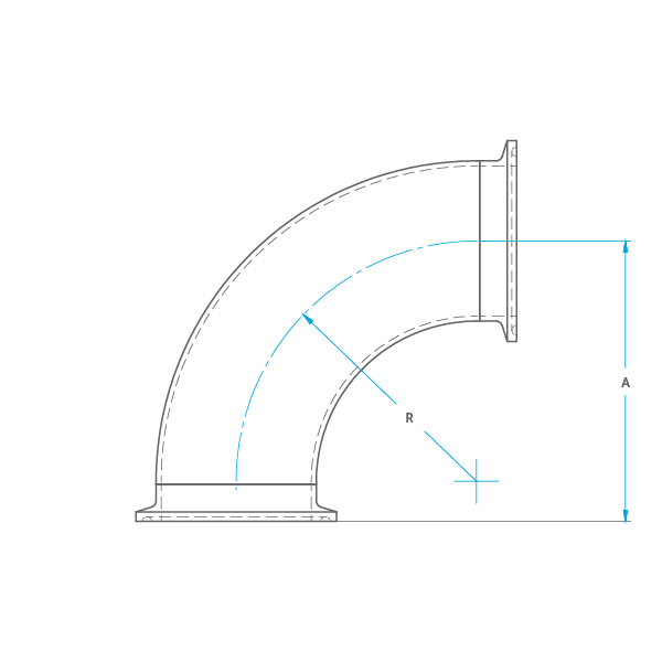 90° 2CMP Bend Drawing