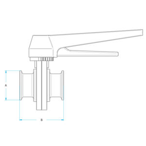 Clamp Butterfly Valve Drawing